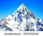 mountains peak | Shutterstock . vector #393702544