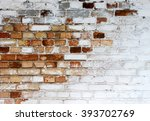 Old Chipped White Brick Wall...