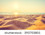 beautiful beach sand and sea at ... | Shutterstock . vector #393703801