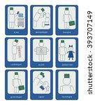 set of doctors signs. blue... | Shutterstock .eps vector #393707149