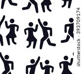 icon silhouette of a dancing... | Shutterstock .eps vector #393709174