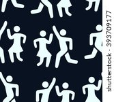 seamless pattern silhouette of... | Shutterstock .eps vector #393709177