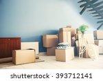 packed household goods for...   Shutterstock . vector #393712141