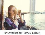girls photography traveling... | Shutterstock . vector #393712834