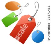 set of price tags. vector... | Shutterstock .eps vector #39371488