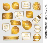 collection of golden premium... | Shutterstock .eps vector #393717271