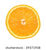 slice of orange isolated on... | Shutterstock . vector #39371938