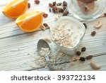 a composition with a glass of... | Shutterstock . vector #393722134