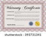 sample warranty certificate... | Shutterstock .eps vector #393731341