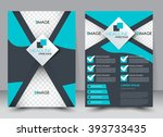 abstract flyer design... | Shutterstock .eps vector #393733435