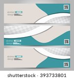 banner template. abstract... | Shutterstock .eps vector #393733801