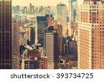 midtown manhattan new york... | Shutterstock . vector #393734725