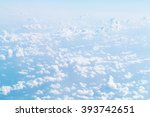 cloudscape blue sky and white... | Shutterstock . vector #393742651