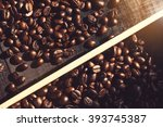 Coffee Beans On The Wooden...