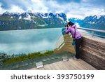 nature photographer tourist...   Shutterstock . vector #393750199