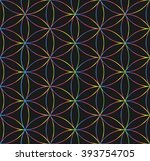 sacred geometry. crossing... | Shutterstock .eps vector #393754705