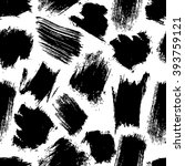 seamless pattern with black... | Shutterstock .eps vector #393759121