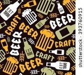 craft beer brewery seamless... | Shutterstock .eps vector #393760915