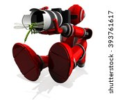 3d photographer robot red color ... | Shutterstock . vector #393761617