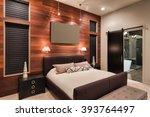 furnished master bedroom... | Shutterstock . vector #393764497