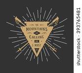 vintage adventure logo badge ... | Shutterstock .eps vector #393765481
