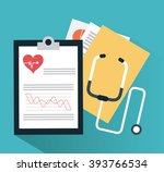 medical and cardiology design | Shutterstock .eps vector #393766534