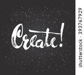 hand drawn chalk typography... | Shutterstock .eps vector #393767929