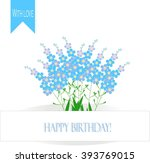 greeting card happy birthday  a ... | Shutterstock .eps vector #393769015