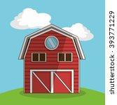 farm barn  vector illustration | Shutterstock .eps vector #393771229