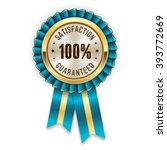 gold 100 percent satisfaction... | Shutterstock .eps vector #393772669
