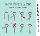 instructions on how to tie a... | Shutterstock .eps vector #393775579