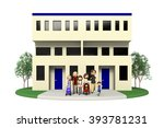 housing for two generations and ... | Shutterstock . vector #393781231