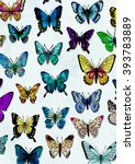 butterfly wallpaper | Shutterstock . vector #393783889