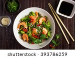 soba noodles with shrimps and... | Shutterstock . vector #393786259