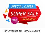 super sale red banner  special... | Shutterstock .eps vector #393786595