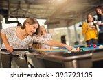 billiards game. group of... | Shutterstock . vector #393793135