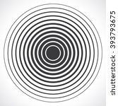 concentric circle elements.... | Shutterstock .eps vector #393793675