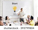 start begin activation begin... | Shutterstock . vector #393799804