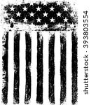 stars and stripes. monochrome... | Shutterstock . vector #393803554