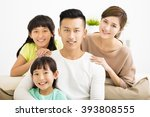 happy attractive young  family... | Shutterstock . vector #393808555