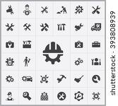 simple repair icons set.... | Shutterstock .eps vector #393808939