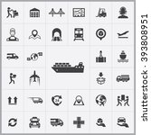 simple logistics icons set.... | Shutterstock .eps vector #393808951