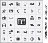 simple media icons set....