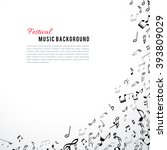 abstract musical frame and... | Shutterstock .eps vector #393809029