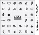 simple money icons set.... | Shutterstock .eps vector #393809059
