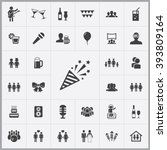 simple party icons set....