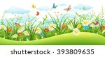 summer landscape banner with...