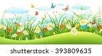 Summer Landscape Banner With...