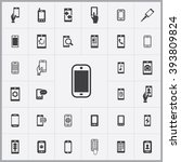 simple smartphone icons set.... | Shutterstock .eps vector #393809824