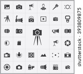 simple photography icons set.... | Shutterstock .eps vector #393809875